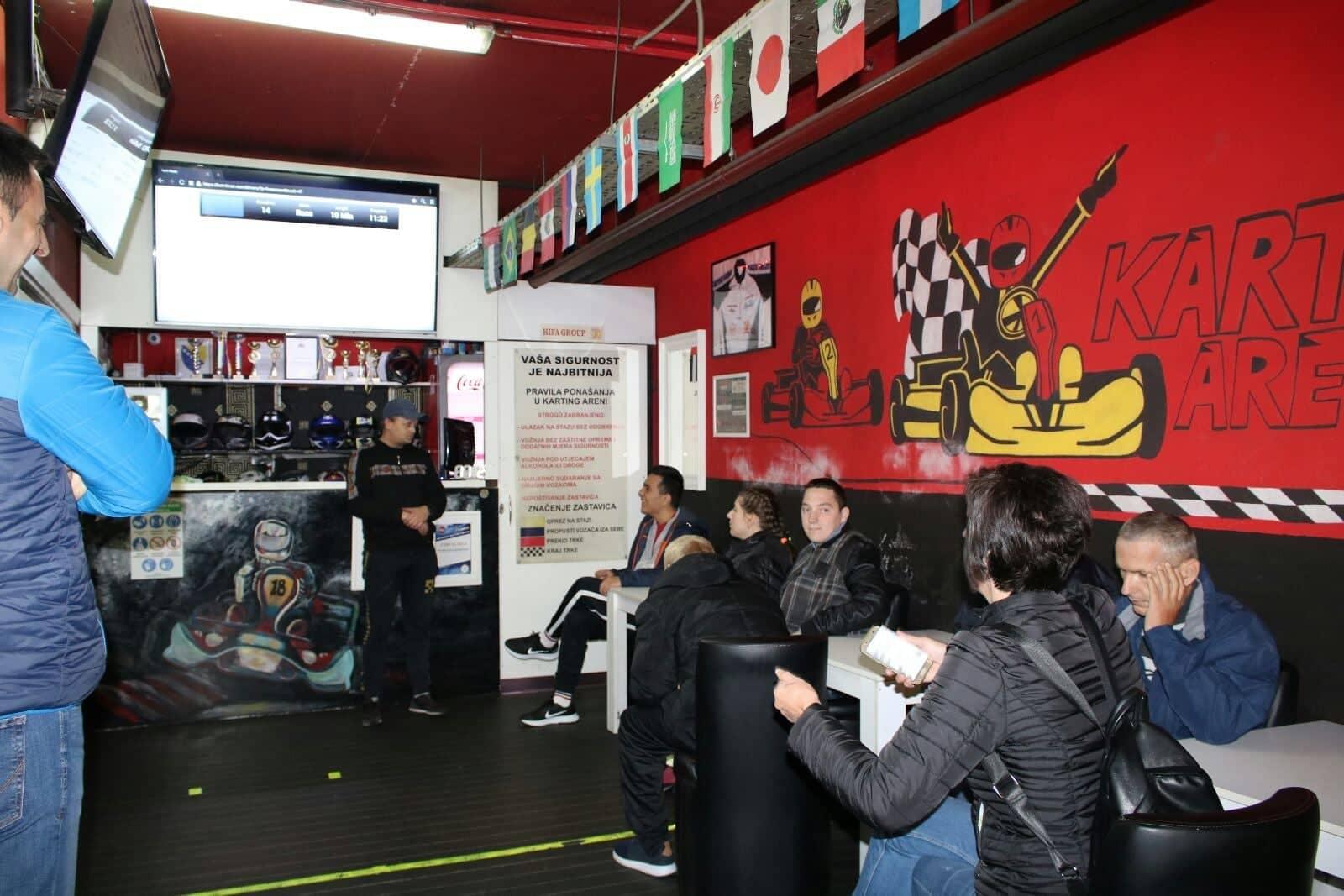 U proteklim danima smo realizirali odlaske na karting u Sarajevo u Karting Arena SpeedXtreme za ukupno 30 korisnika